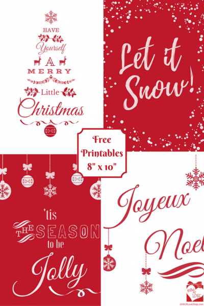 Red Christmas Printable Posters