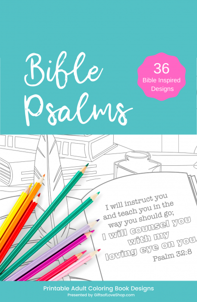 Bible Psalms Adult Coloring Pages