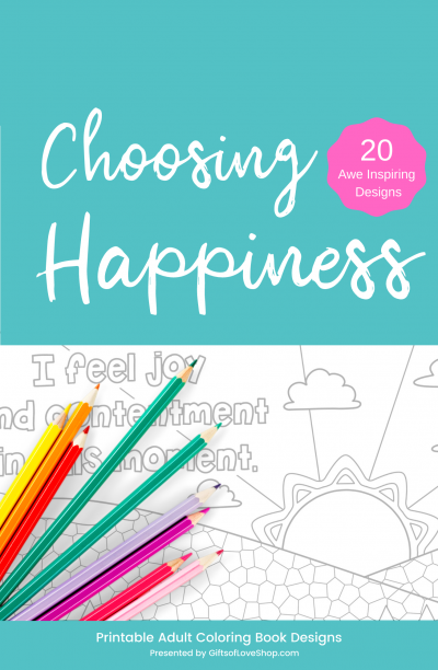 Choosing Happiness Affirmations Coloring Pages