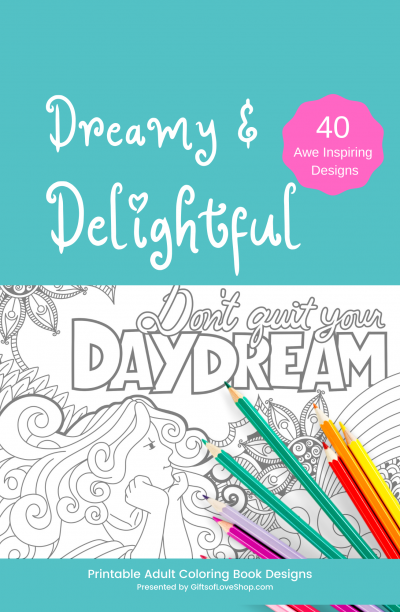 Dreamy & Delightful Adult Coloring Pages