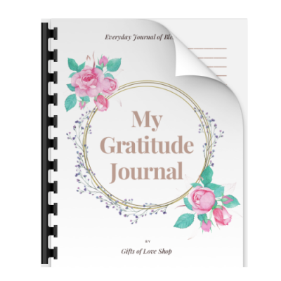 rose printable gratitude journal