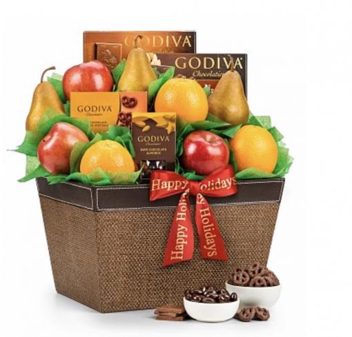 Godiva Chocolates & Fruit Gift Basket