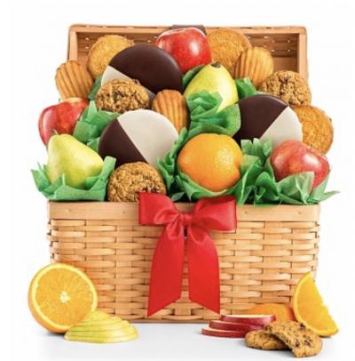 Premium Grade Fruit and Cookies Basket