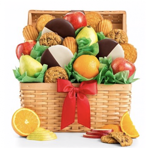 Premium Grade Fruit and Cookies Basket