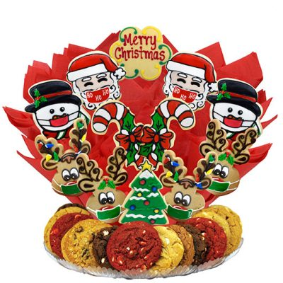 Christmas Cookies with Masks