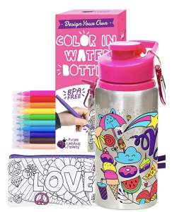 Gifts for Kids Who Like to Draw Water Bottle