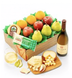 wine gift baskets delivery fruit