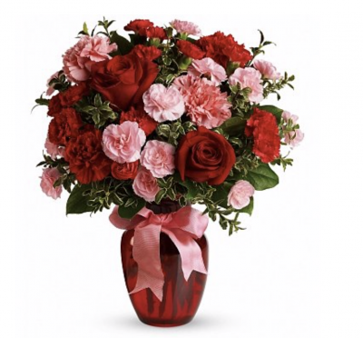 Valentines Dance with Me Bouquet with Red Roses