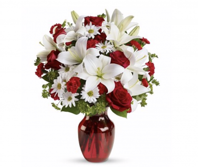 Be My Valentine Bouquet with Red Roses